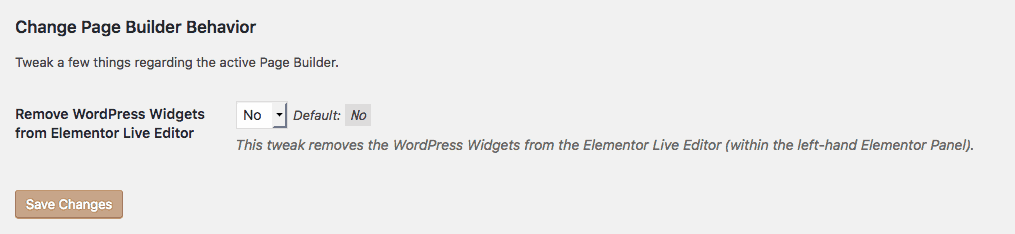 Screenshot of WordPress Widgets Tweak