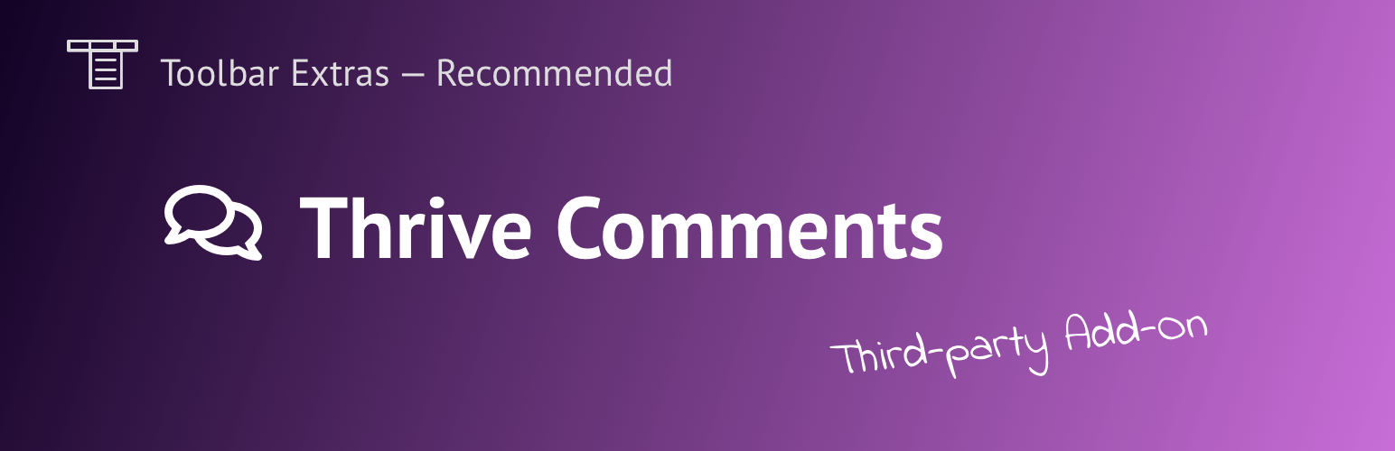 Thrive Comments plugin banner