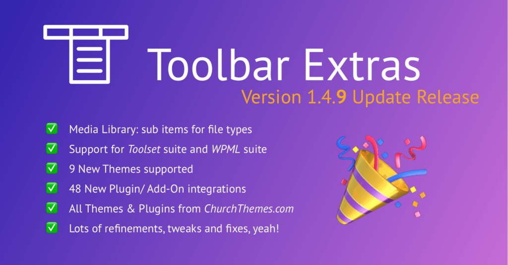 Toolbar Extras version 1.4.9 update release